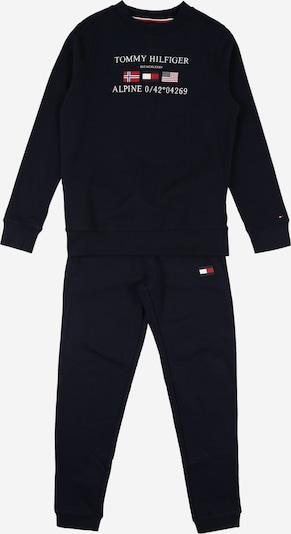TOMMY HILFIGER Jogginganzug in navy / rot / weiß, Produktansicht