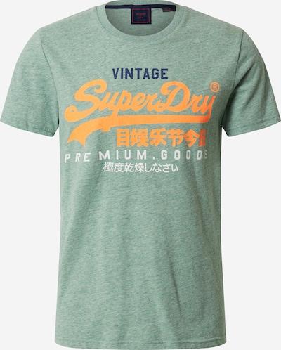 Superdry T-Shirt in navy / grün / pastellgrün / orange / weiß, Produktansicht