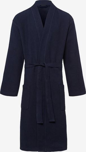 SCHIESSER Badjas lang  in de kleur Donkerblauw, Productweergave