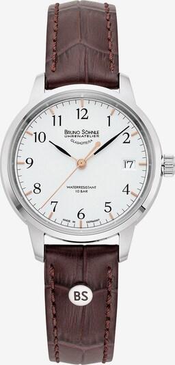 Bruno Söhnle Uhr 'Hamburg Small I 17-13202-221' in kastanienbraun / silber / weiß, Produktansicht