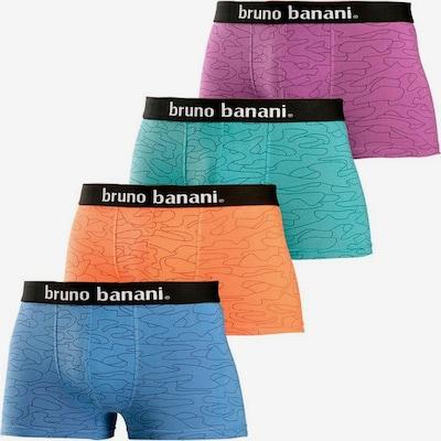 BRUNO BANANI Trunks in türkis / himmelblau / lila / orangerot, Produktansicht