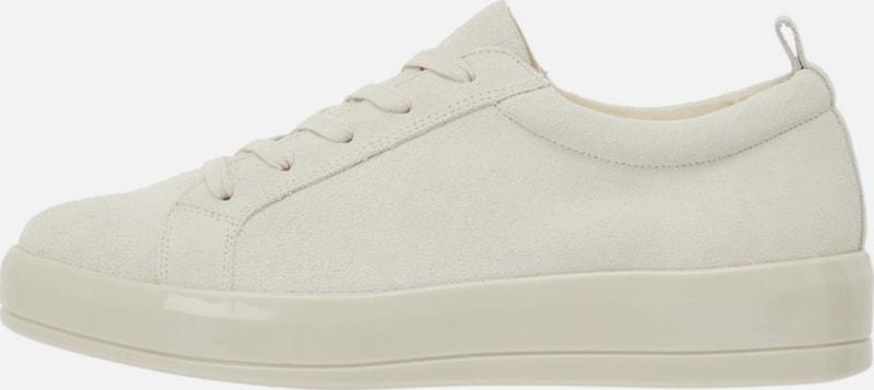 Bianco Geschnürte Leder Sneaker