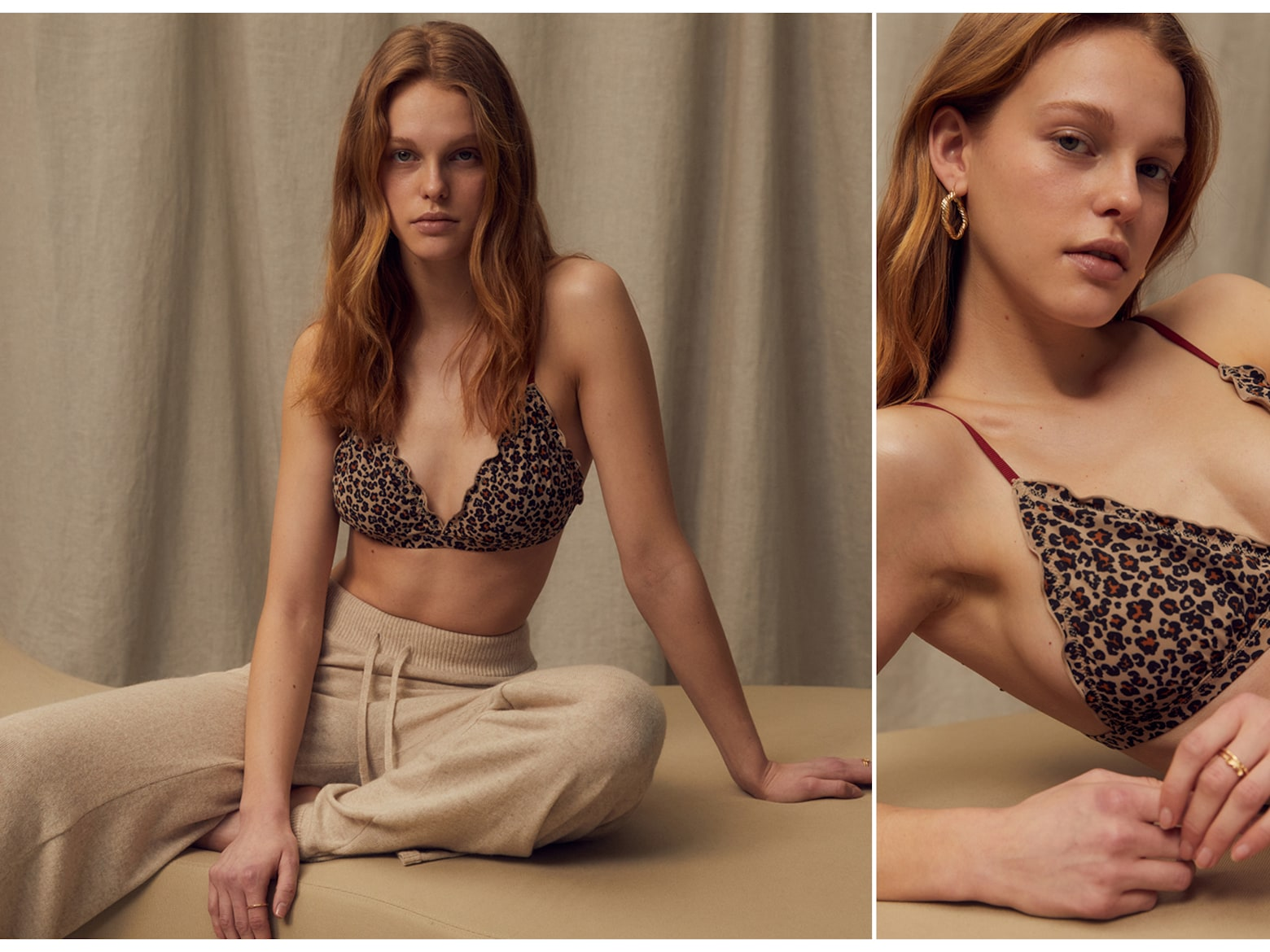 Esther A. - Animal Print Lingerie Outfit
