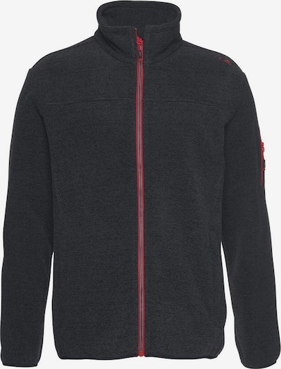 CMP Fleecejacke in rot / schwarz, Produktansicht