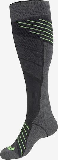 FILA Sportsocken in dunkelgrau / neongrün, Produktansicht