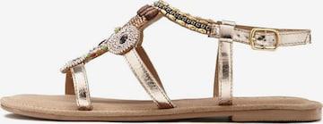 LASCANA Sandale in Gold