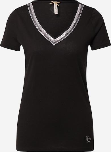 Key Largo T-Shirt 'MILA' in schwarz / silber, Produktansicht