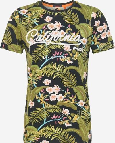 Hailys Men T-Shirt 'Jungle' in hellblau / oliv / mischfarben / schwarz / weiß, Produktansicht