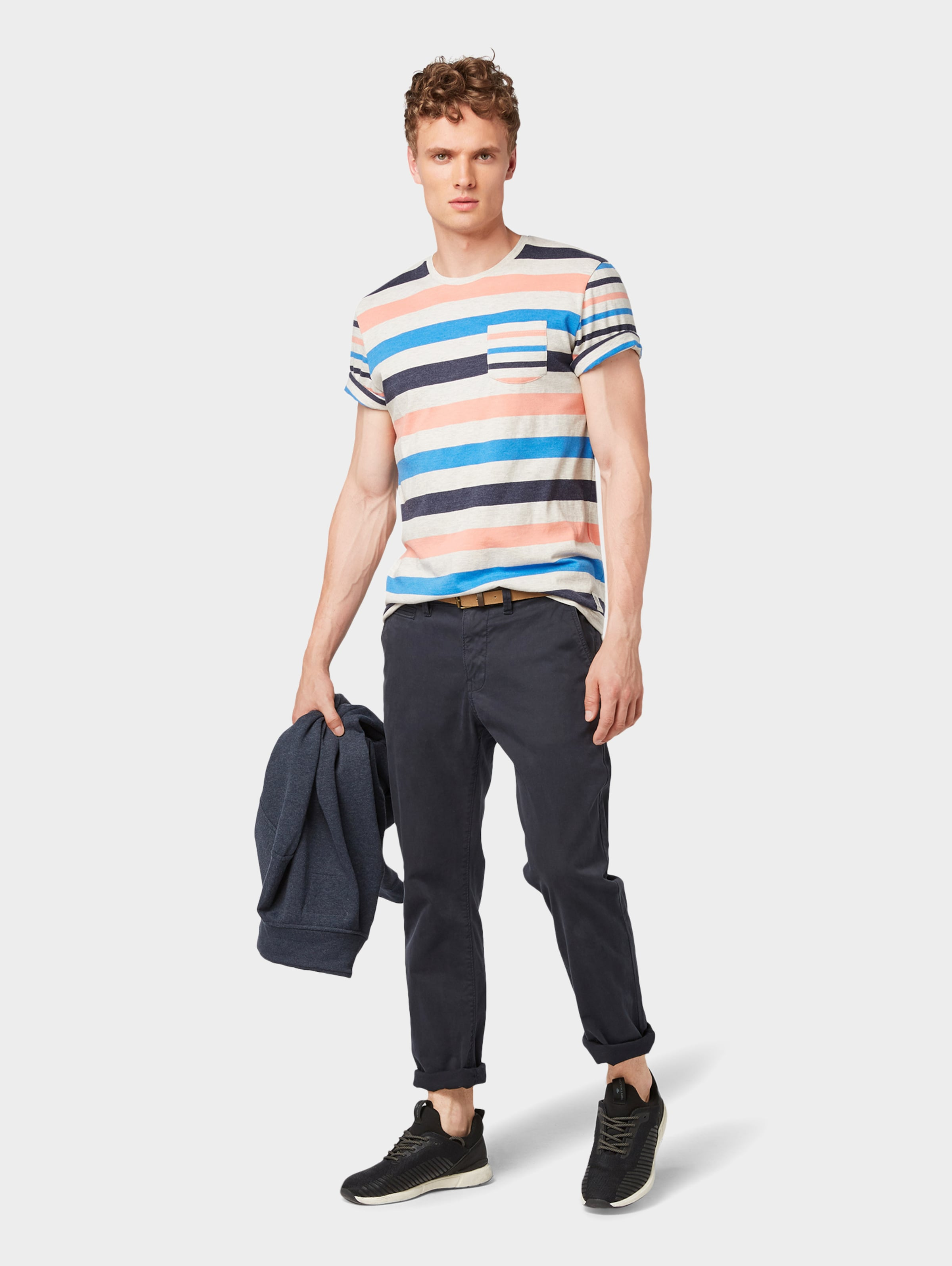 BlauSchwarz Shirt Tom Tailor In Tailor Shirt Tom WI9YDHE2