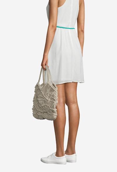 PIECES Strandtas 'PCNANNA CROCHET BAG SWW' in de kleur Beige, Modelweergave