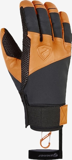 ZIENER Sporthandschuhe in orange / schwarz / weiß, Produktansicht