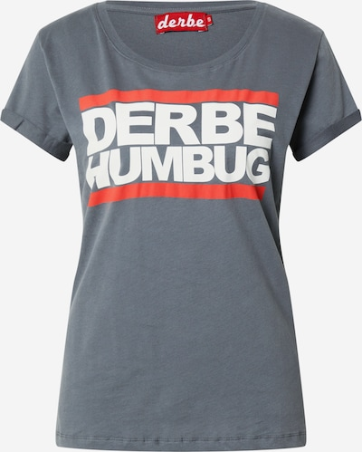 Derbe Majica 'Humbug' u siva melange / lubenica roza / bijela, Pregled proizvoda