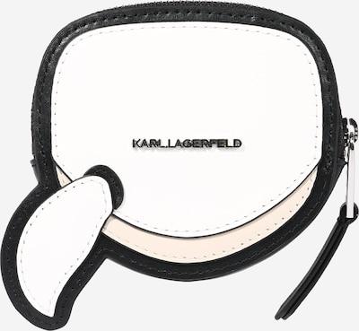 Karl Lagerfeld Geldbörse 'Ikonik' in schwarz / weiß, Produktansicht