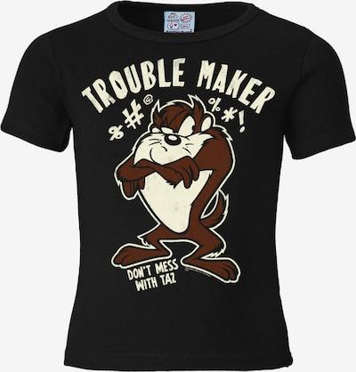 LOGOSHIRT T-Shirt 'Tasmanischer Teufel Taz - Looney Tunes' in elfenbein / pueblo / schwarz, Produktansicht