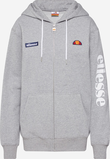 ELLESSE Sweat jacket 'Serinatas' in Dark blue / mottled grey / Orange / Orange red / White, Item view