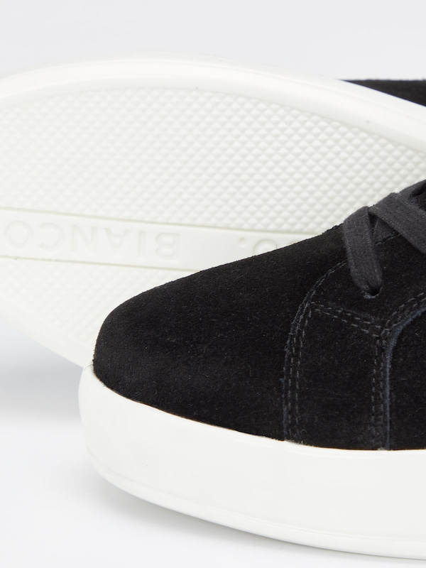 Bianco Laced Suede Sneaker