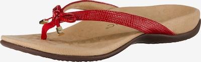 Vionic Zehentrenner 'Bella II Lizard' in rot, Produktansicht