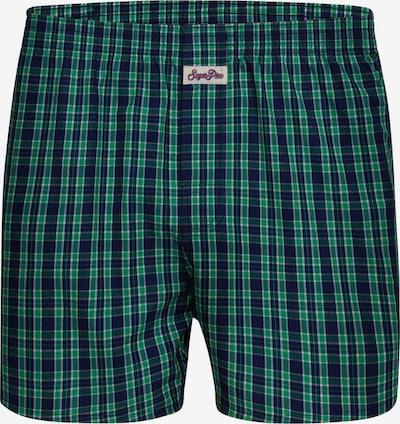 Sugar Pine Boxershorts 'Classic Check' in grün, Produktansicht