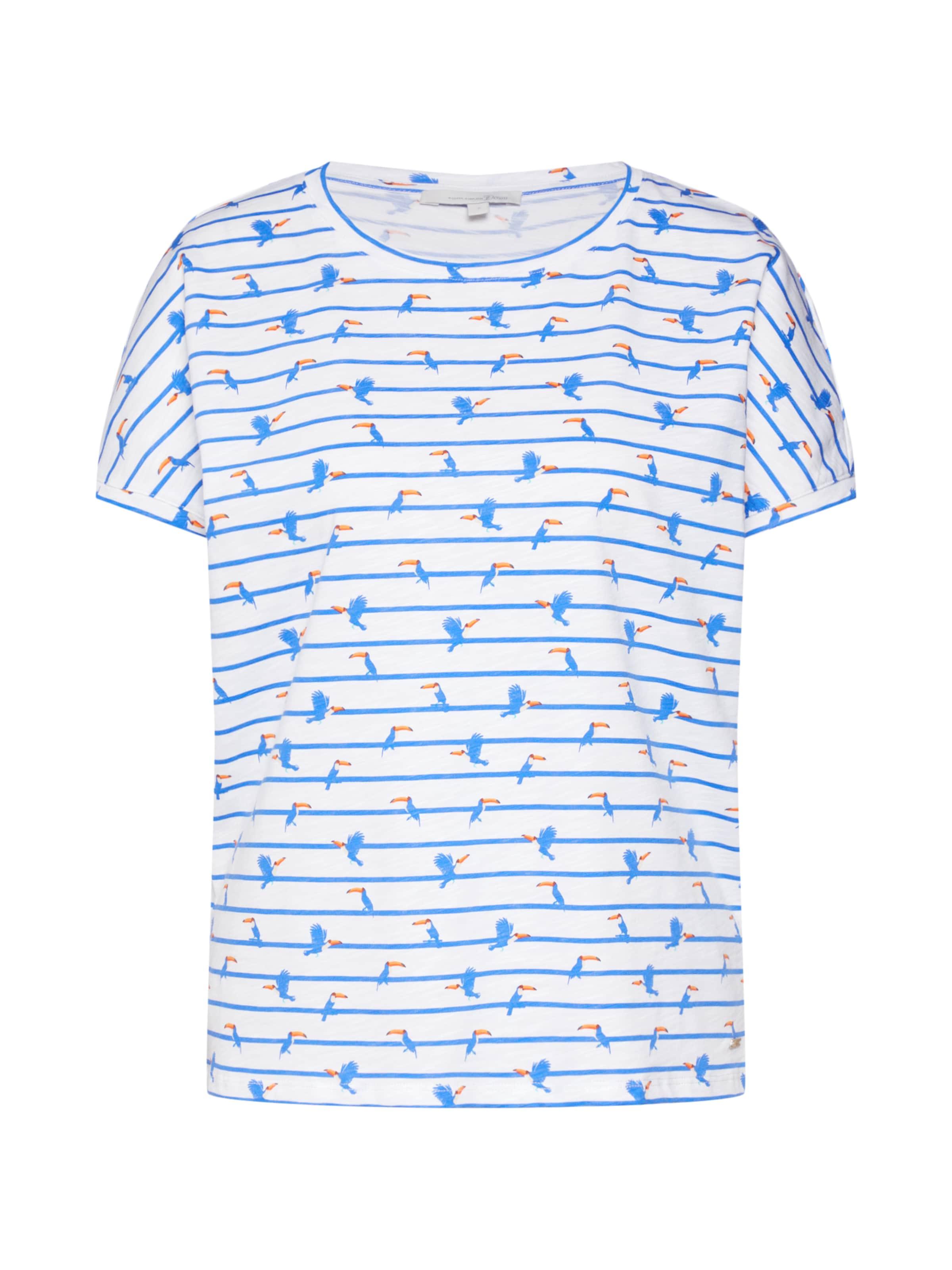 Tee' 'boxy BlauWeiß Tailor Tom In Denim Shirt uFKJ5T1cl3