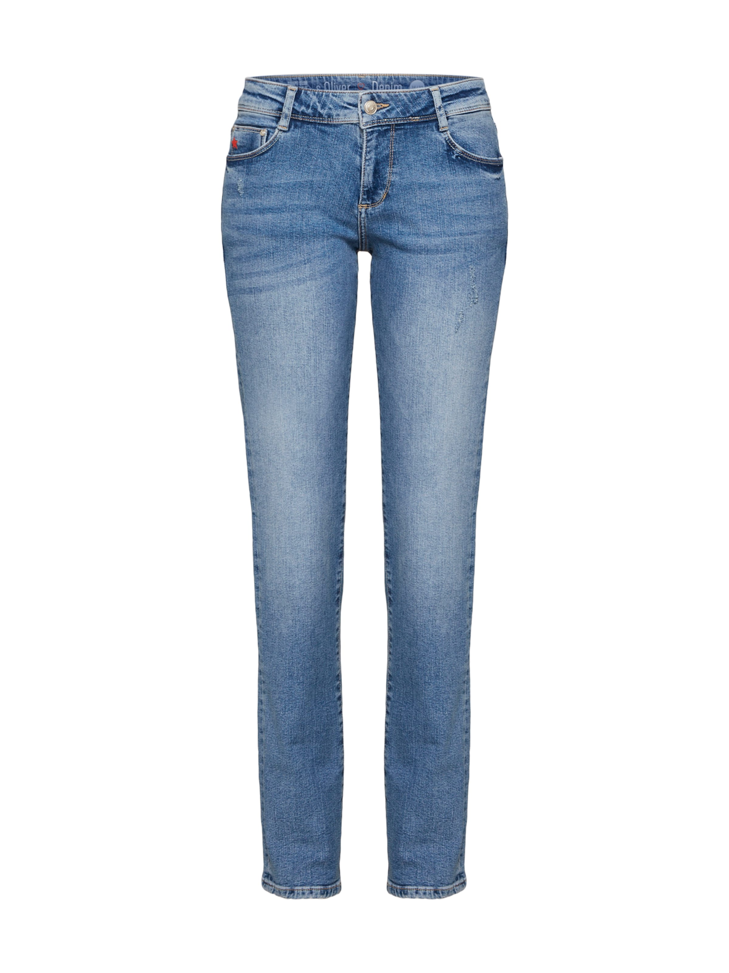oliver Jeans S Blue Denim Red In Label ymN0Ov8nw