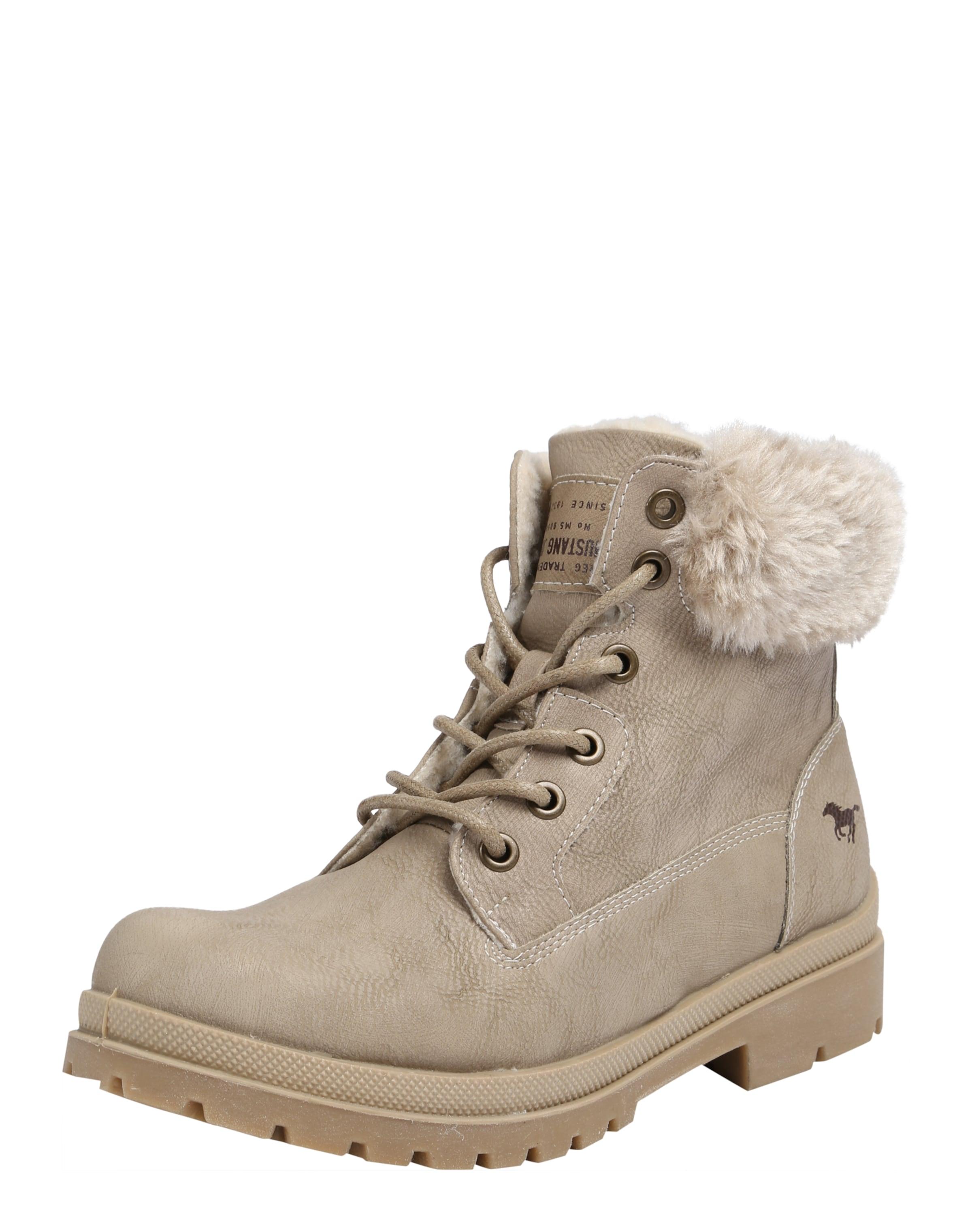 MUSTANG Schnürstiefel mit Pelzimitat Verschleißfeste billige Schuhe