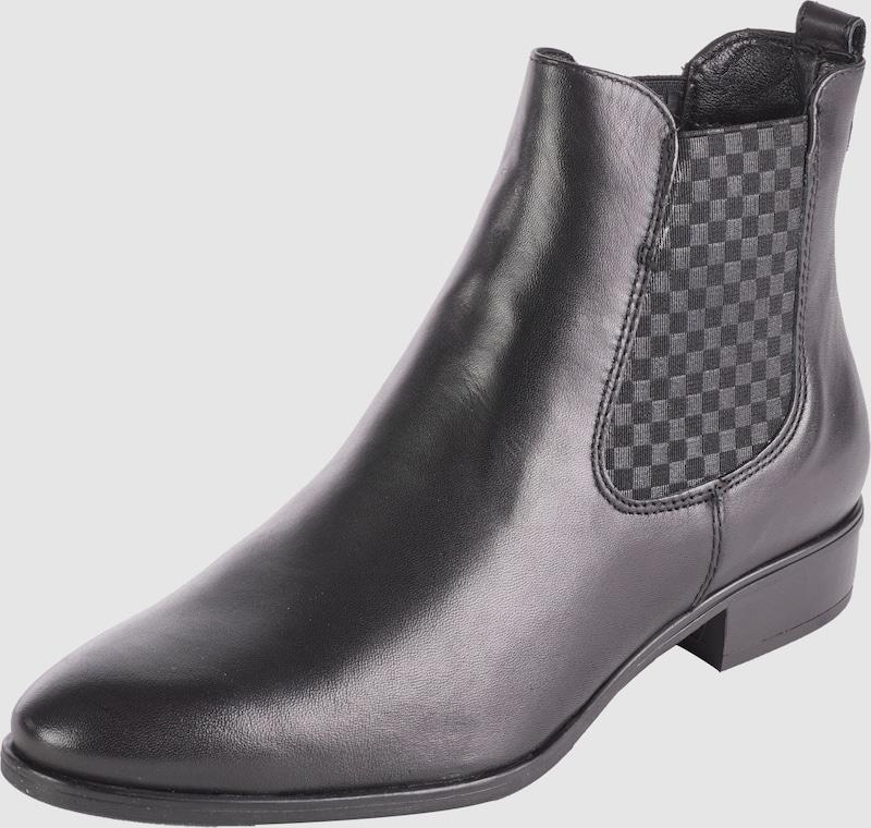 tamaris chelsea boot aus leder in schwarz about you. Black Bedroom Furniture Sets. Home Design Ideas