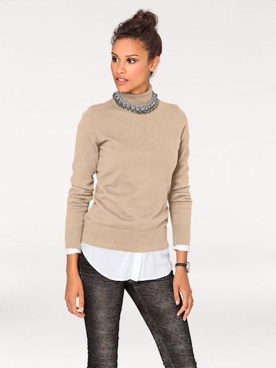 heine Pullover in beige, Modelansicht