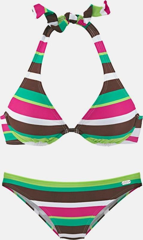 BUFFALO Bikini in braun   grün   neongrün   Rosa  Freizeit, schlank, schlank