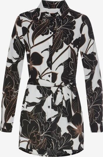 BRUNO BANANI Bluse in braun / schwarz / weiß, Produktansicht