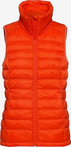 Scheck Vest in Orange