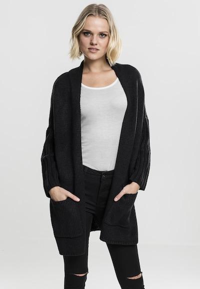 Urban Classics Cardigan oversize en noir, Vue avec modèle