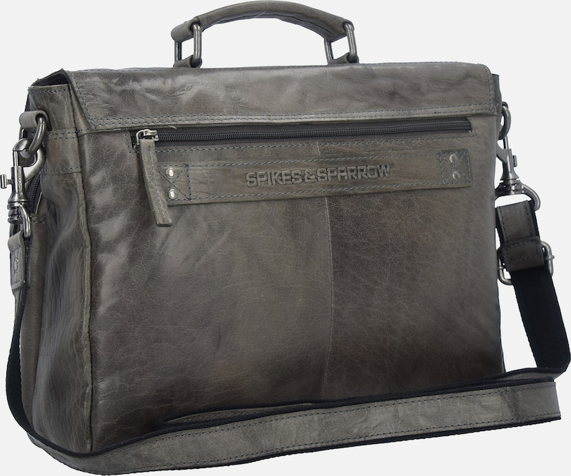 Spikes & Sparrow Bronco Messenger Bag Tasche Leder 35 cm Laptopfach
