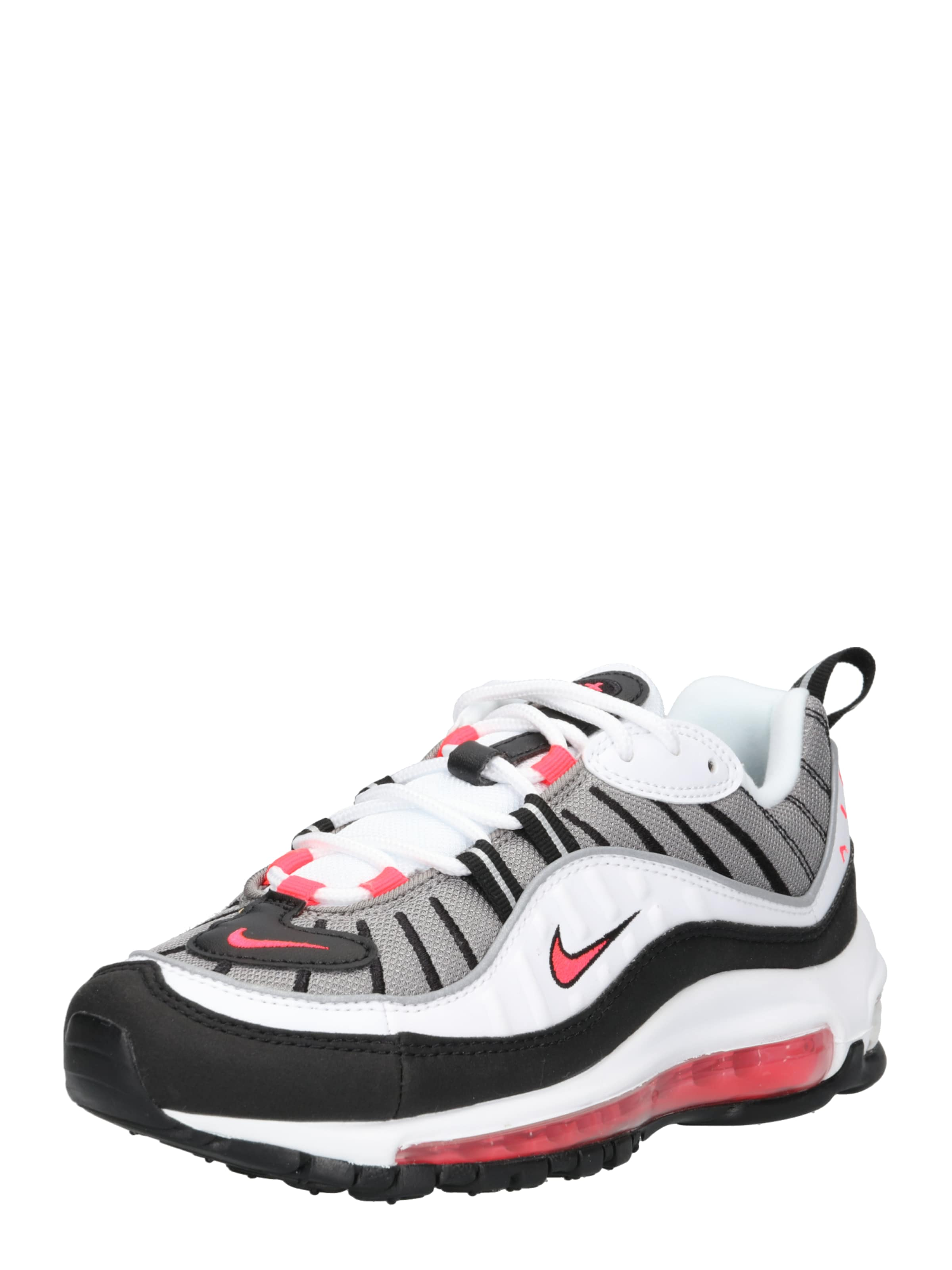 Nike Sportswear Turnschuhe 'Woherren Nike Air Max 98 schuhe' in rot   schwarz   weiß
