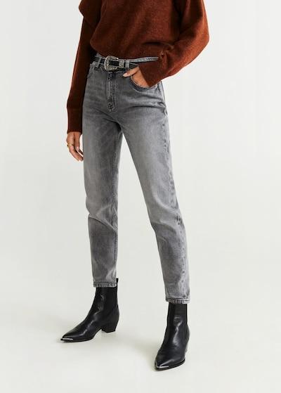 MANGO Jeans 'Mom' in grau, Modelansicht