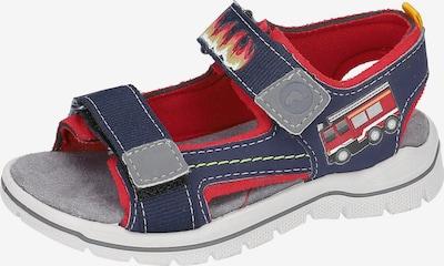RICOSTA Sandalen in dunkelblau / grau / rot, Produktansicht