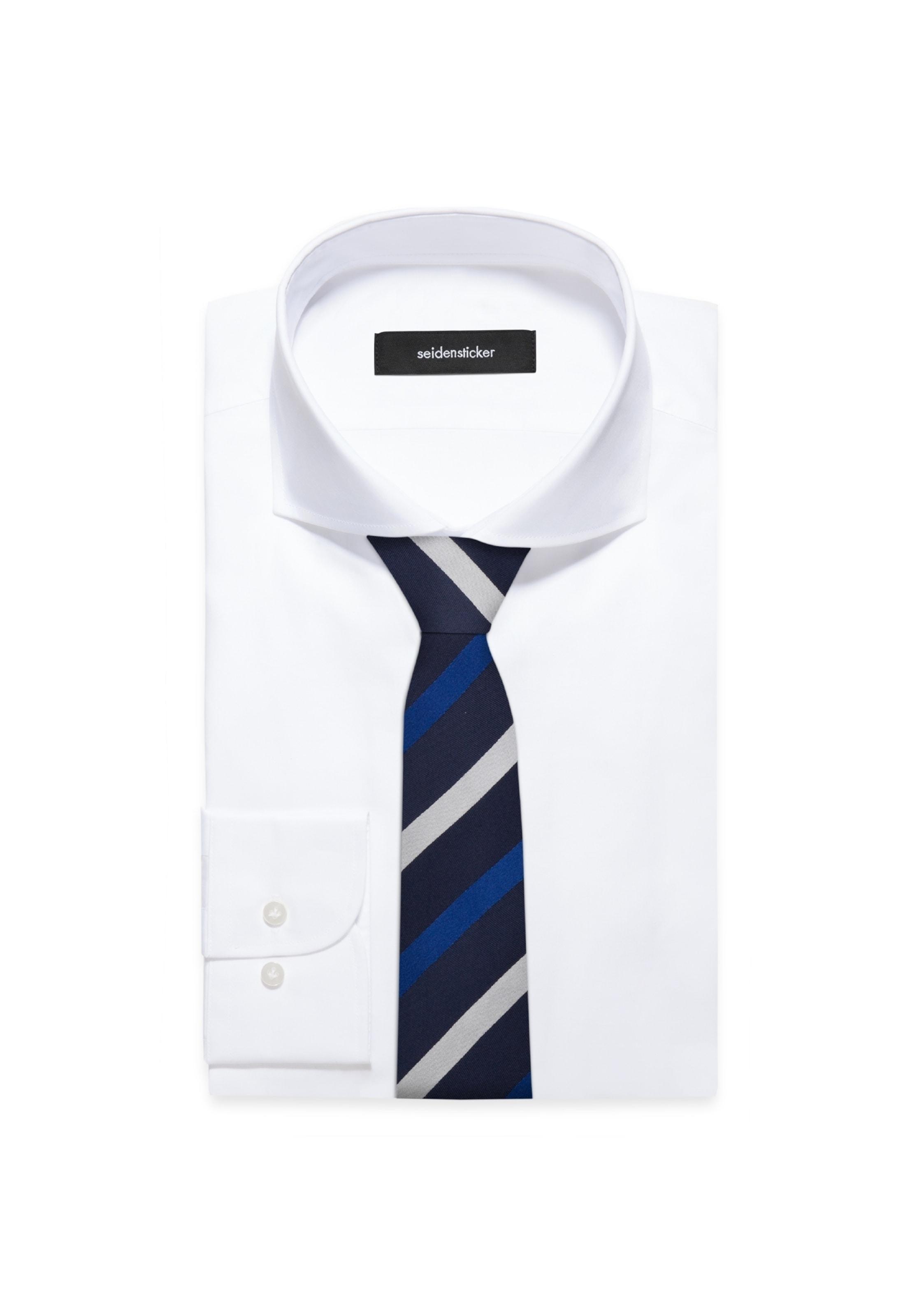 Seidensticker Krawatte 'schwarze Blau In Rose' SMVUpz