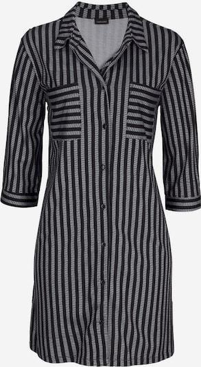 LASCANA Nachthemd in klassischer Form mit Längsstreifen in schwarz, Produktansicht
