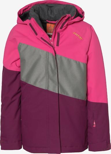 ZIENER Skijacke in grau / pink / eosin: Frontalansicht