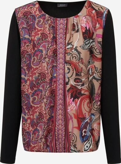 Basler Langarmshirt mit Paisley-Muster in blau / rot / schwarz, Produktansicht