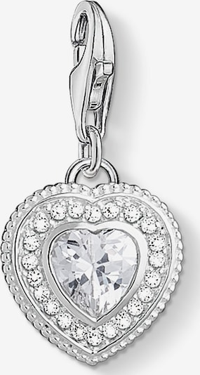 Thomas Sabo Charm in silber / transparent: Frontalansicht