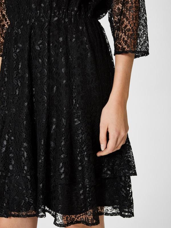 SELECTED FEMME Spitzen Kleid mit langen Ärmeln