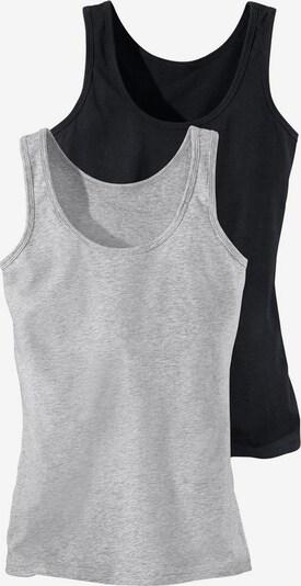 H.I.S Tanktops (2 Stück) in graumeliert / schwarz, Produktansicht