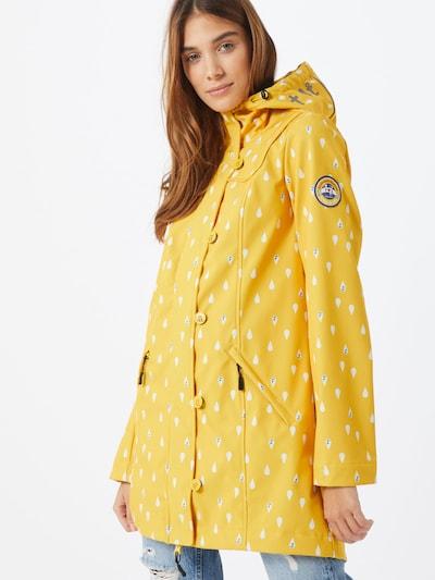 Blutsgeschwister Functionele mantel 'wild weather long anorak' in de kleur Geel, Modelweergave
