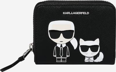 Karl Lagerfeld Geldbörse 'K/Ikonik' in schwarz / weiß, Produktansicht