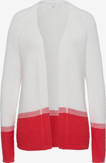 BRAX Strickjacke in rot / weiß, Produktansicht