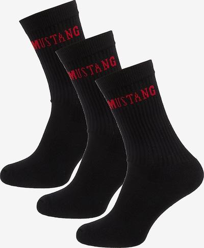 MUSTANG Socken in rot / schwarz, Produktansicht