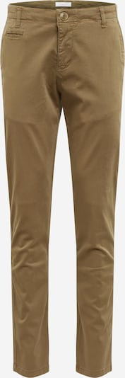 KnowledgeCotton Apparel Pantalon chino en olive: Vue de face