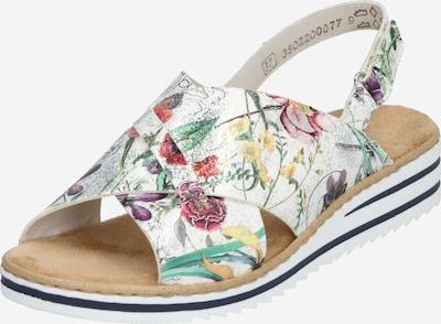 RIEKER Sandale in mischfarben / weiß, Produktansicht