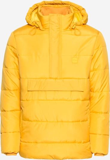 Urban Classics Winterjas 'Pull Over Puffer' in de kleur Geel, Productweergave