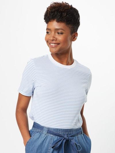 PIECES Koszulka 'Ria' w kolorze jasnoniebieski / białym: Widok z przodu